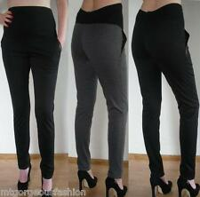 Maternity Trousers Pregnancy Skinny Stretchy Elastic with Pockets 8 10 12 14 16
