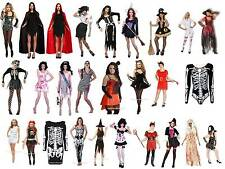 Women's Halloween Fancy Dress Costumes Vampire Witch Bride Maid Skeleton Prom