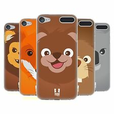 HEAD CASE CARTOON ANIMAL FACES SERIES 2 GEL CASE FOR APPLE iPOD TOUCH 6G 6TH GEN