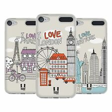 HEAD CASE DOODLE CITIES SERIES 1 SOFT GEL CASE FOR APPLE iPOD TOUCH 6G 6TH GEN
