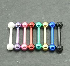 Eyebrow Barbell Anodized Colour Steel Earring Tragus Rook Piercing Bar 16g 8mm