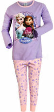 Disney Frozen Girls Long Sleeve Pyjamas Set Sisters Anna & Elsa Nightwear