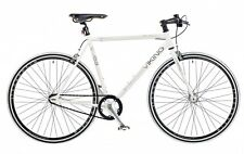 Viking Urban City Singlespeed Fixie blanco Fixie Fixed Equipo Ciudad Bicicleta