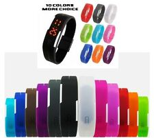 Digital Sports Ultra Thin Led Watch For Men Women Girls Boys Wrist Band Watches