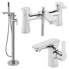 SAGITTARIUS CURVE BATHROOM TAPS CHROME MIXER BASIN BATH SHOWER FILLER SINK LEVER