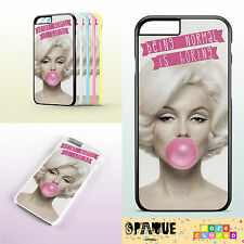 BEING NORMAL BORING MARILYN MONROE QUOTE PINK For iPhone Hard/Rubber Case Cover