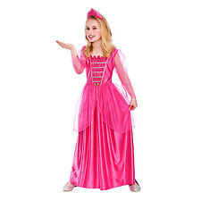 Girls Darling Princess Fancy Dress Up Party Costume Halloween Child Outfit Pink