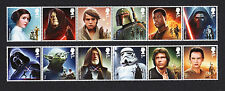 2015 STAR WARS Mint Stamp Set of 12 with or without Carrier Card SG 3758 - 3769