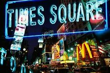 New Neon Times Square New York Night Poster