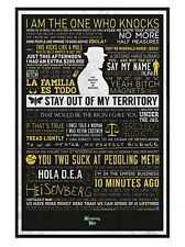 New Gloss Black Framed Breaking Bad The Many Sayings of Walter White Poster
