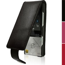 Leather Skin Flip Case Cover for Sony Walkman NW-A25 A27 Screen Prot Carabiner