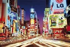 New Colourful Night Life in Times Square Times Square, New York City, USA Poster