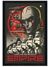 New Black Wooden Framed Star Wars Rebels Long Live The Galactic Empire Poster