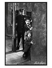 Gloss Black Framed Charlie Chaplin in The Kid Maxi Poster 61x91.5cm