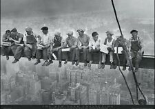 New Men on a Girder Having Lunch New York City Collection Poster