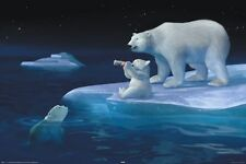 New Coca Cola Polar Bear Refreshment Coke Poster