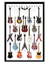 A Collector's Paradise Gloss Black Framed Guitar Heaven Maxi Poster 61x91.5cm
