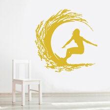 VINILO DECORATIVO COCHE PARED SALÓN CASA DECORACION WALL STICKER-SURFER WAVE 2G