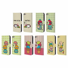 HEAD CASE DESIGNS KAWAII MACARONS LEATHER BOOK CASE FOR APPLE iPOD TOUCH MP3