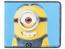 Despicable Me Minion Stuart Smiling & Frowning Sky Blue Wallet
