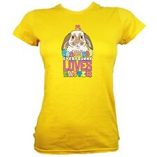 Everybunny Loves Easter Women's Yellow T-shirt