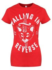 Falling In Reverse Dagger Cat Women's Red FIR T-shirt