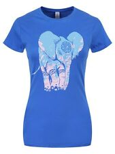 Unorthodox Elephant Ladies Blue T-Shirt