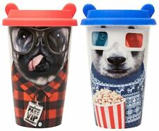 Coffee Crew Reusable Ceramic Travel Cup Mug Pug & Panda