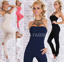 HOT SEXY ELEGANT OVERALLS TUBE JUMPSUIT JUMPSUIT SEXY PLUNGING NECKLINE 34-38
