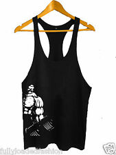 Bodybuilding Stringer Tank Top GYM Y-Back Gym VEST MMA Fighting Wear 9