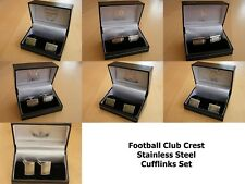 FC Football Club Crest Stainless Steel Cufflink Set Arsenal FC Man Utd FC More+