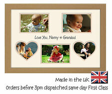 Nanny & Grandad Personalised  Double Mount  Love You  Photo Frame 6 x 4 photos