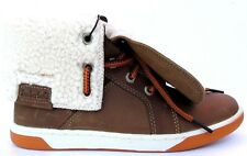 Timberland Metrowest Junior Childrens Boys Shearling Leather Roll Top Boots Size