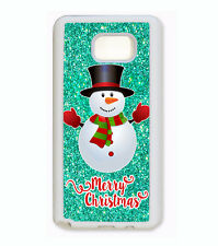 MERRY CHRISTMAS GIFT SNOWMAN CUSTOM Case For Samsung Galaxy S7 S6 S5 NOTE 5 4 3