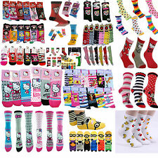 3x Ladies Novelty Assorted Colour Design Pattern Character TV Cartoon Gift Socks