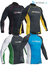 Gul Xola Mens Long Sleeve Rash Vest Wetsuit Guard Sailing Surf Swim Beach Uv Sun