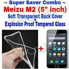 ~Combo Offer~ 2.5D Temperd Glass + Soft Back Cover For MEIZU M2 5inch @ Rs 175/-