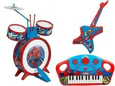 Spiderman Drum Kit Electronic Acoustic Guitar / Keyboard Kids Musical Instrument