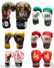 RingMaster UK 14oz Boxing Gloves MMA Kickboxing Muay Punch Bag Mitt Training