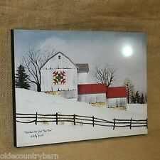 Christmas Star Quilt Barn Battery Lighted Painted Canvas Winter Wall Decor