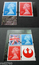 2015 STAR WARS Single M15L MPIL Machins and Flag Stamps from PSB DY15