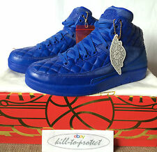 NIKE AIR JORDAN 2 JUST DON C Sz UK US 8 9 10 11 12 BLUE 717170-405 Rare DB 2015