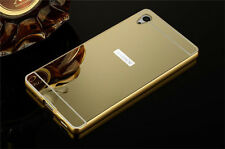 Luxury Aluminum Frame Mirror Back Cover Case Bumper For Sony Xperia Z2