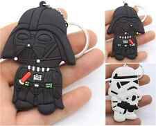 star wars chibi DOUBLE FACE GOMMA SILICONE Portachiavi Darth Vader Storm Trooper