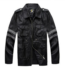Resident Evil Costume Biohazard Leon Leather Jackets Cosplay M-4XL