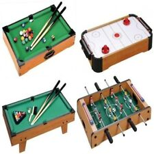 GIOCO DA TAVOLO TOP FOOTBALL FUORIBORDO AIR HOCKEY BILIARDO SNOOKER REGALO DI