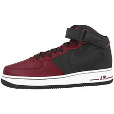 NIKE AIR FORCE 1 '07 MEDIO RETRO ZAPATOS NEGRO BLANCO ROJO 315123-032 DUNK