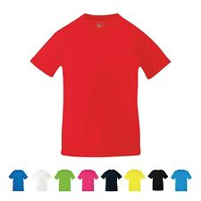 Fruit of the Loom Kids Boys Girls Wicking Running Sports Performance T Shirt Top