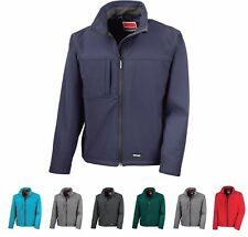 Mens Result Classic Waterproof Windproof Breathable Zip Stretch Softshell Jacket