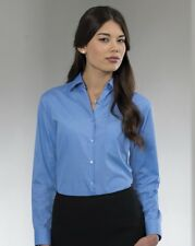 Russell Collection J934F Womens Long Sleeve Poly Cotton Easycare Poplin Blouse